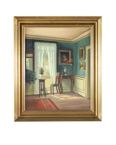 Interior, Frederik Wilhelm Svendsen Framed Artwork