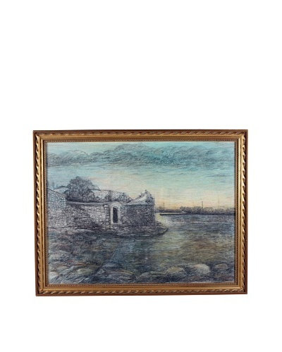 Coastal Ruins, 1953 Framed Artwork