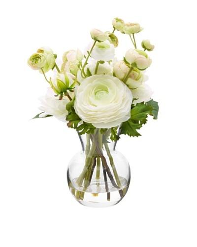11 Dahlia/Ranunculus in Glass Vase