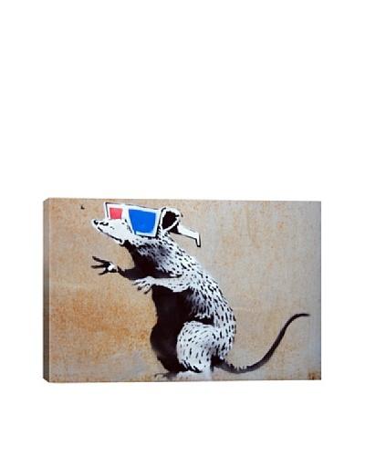 Banksy 3D Rat Canvas Print
