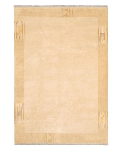 Hand-Knotted Karma Wool Rug, Beige, 6' 8 x 9' 7