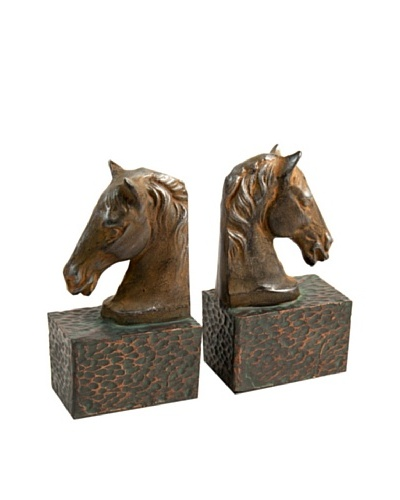 Horse Head Bookends, BrownAs You See