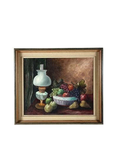 Fruit Bowl Still Life, 1951 Framed Artwork