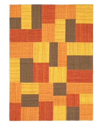 "Mosaico Casual Kilim, Gold/Orange, 4' 7"" x 6' 7"""