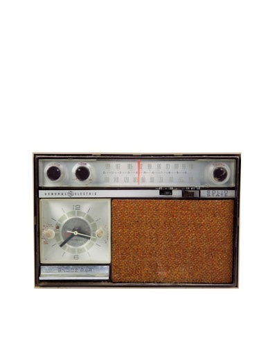 Vintage General Electric Radio, Brown