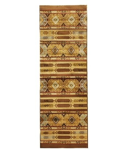 Inspiration Tribal Modern Rug, Brown, 2' 8 x 7' 8 Runner