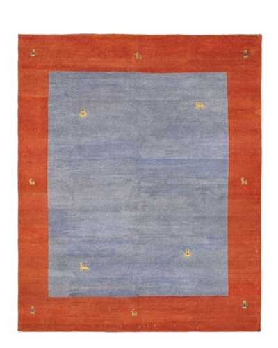 Hand-Knotted Gabbeh Modern Rug, Grey, 8' x 9' 9