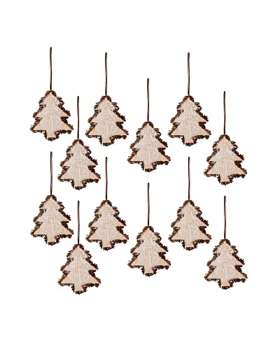Set of 12 Birch Tree Ornaments