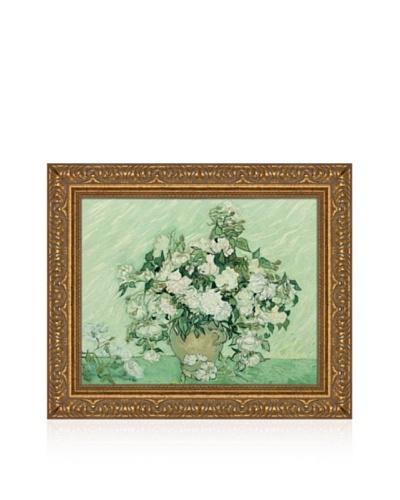 Vincent van Gogh Vase with Pink Roses, 1890 Framed Canvas