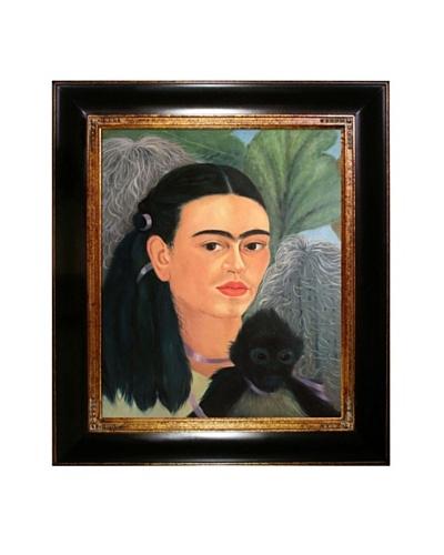 "Frida Kahlo's ""Fulang Chang and I"" Framed Reproduction Oil Painting"