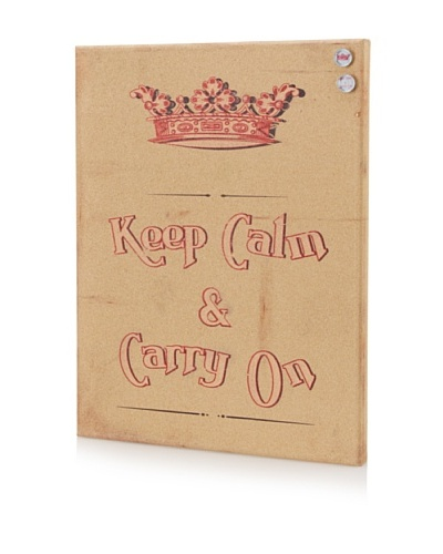Laurence Briand Keep Clam Giclee on Cork Board