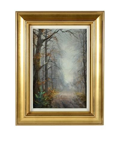 Woods At Dusk Framed Artwork