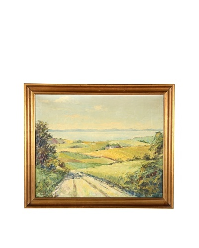 Normandy Landscape Framed Artwork
