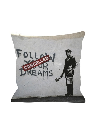Banksy Follow Your Dreams Pillow