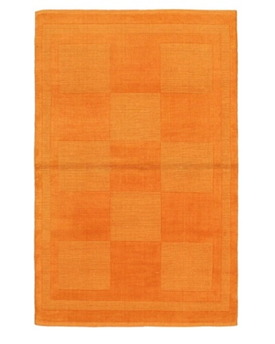Hand-Knotted Luribaft Gabbeh Modern Rug, Camel, 3' 11 x 6' 2