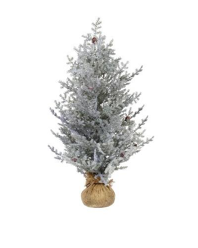 """32"""" Snowy Cedar In Burlap"""