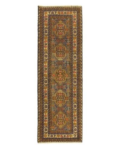 "Hand-knotted Rizbaft Traditional Runner Wool Rug, Navy, 2' 9"" x 9' 6"" Runner"
