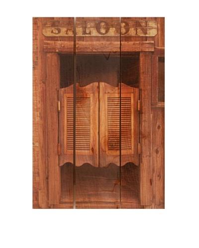 Old Saloon Door on Western Red Cedar