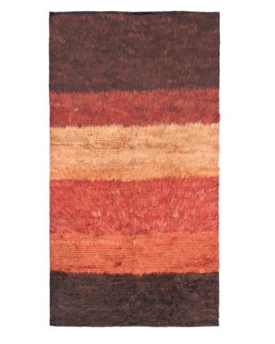 Rabat Long Hair Modern Rug, Dark Copper, 3' 9 x 6' 11