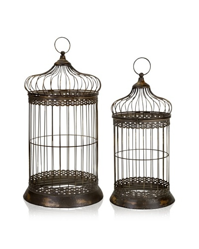 Set of 2 Byzantine Dome Bird Cages
