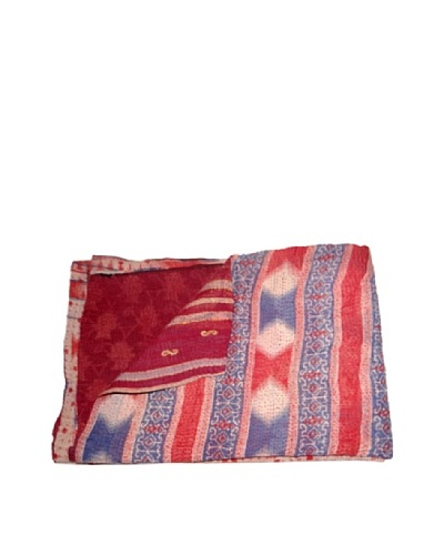 Large Vintage Kantha Throw Kanti, Multi, 60 x 90