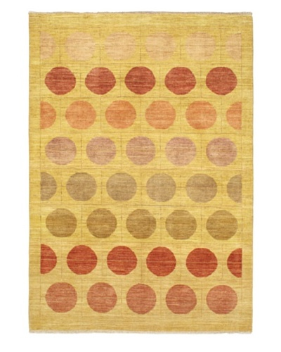 Hand-Knotted Finest Ziegler Chobi Rug, Gold, 5' 5 x 7' 8