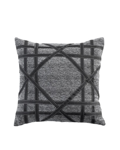 "Lace Mace Pillow, Black/Grey, 18"" x 18""As You See"