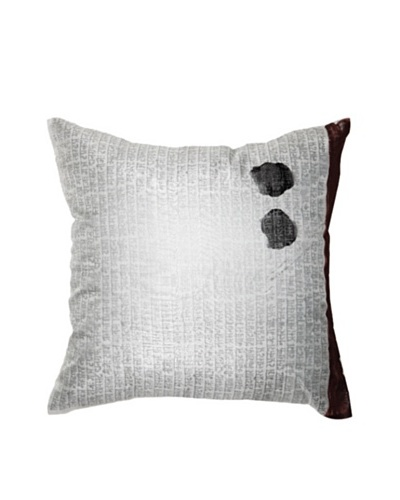 Sanskrit Pillow, Silver/Black, 18 x 18As You See