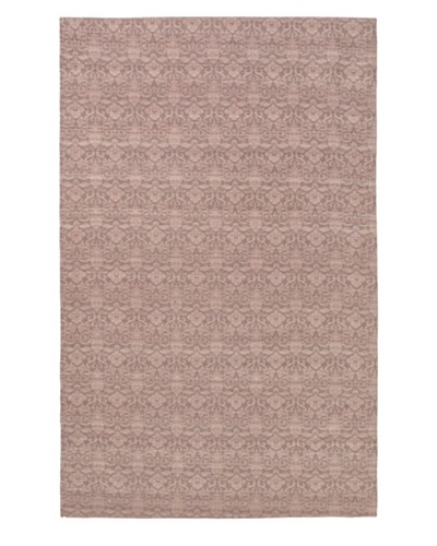 Hand-Woven Dhurrie Rug, Pink, 5' 1 x 8'