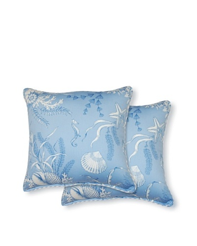Set of 2 By the Sea Pillows [Blue]