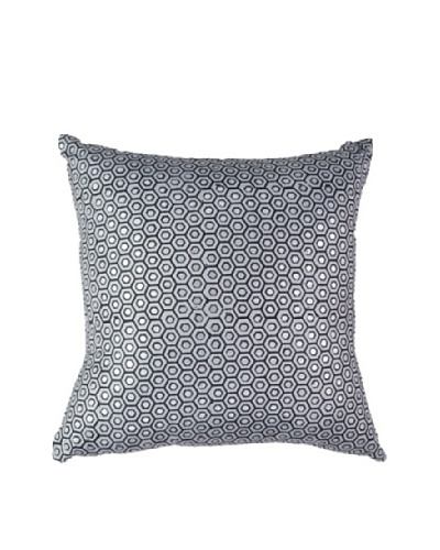 Honeycomb Steele Pillow, Silver, 18 x 18As You See