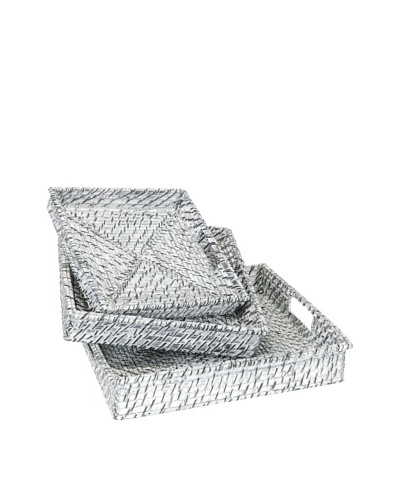 Jawal Set of 3 Trays [White/Gray]