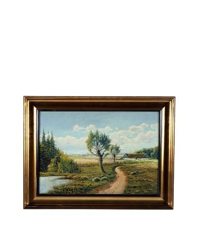 Dijon Countryside Framed Artwork