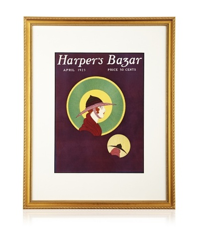 "Original Harper's Bazaar cover dated 1923. by unknown. 16""X20"" framed"