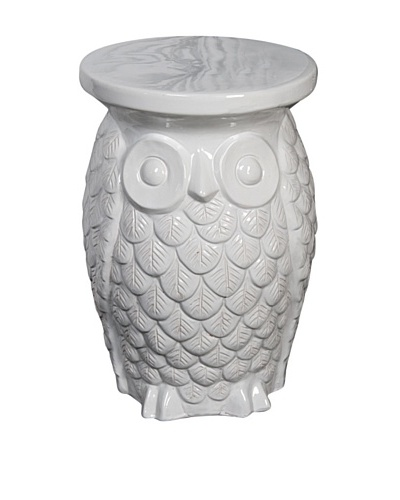 Ceramic Owl Garden Stool