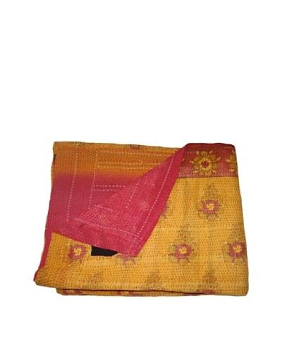 "Vintage Aakaanksha Kantha Throw, Multi, 60"" x 90"""