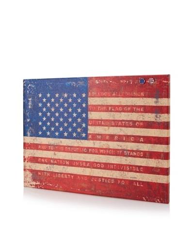 "Tim Coffey ""Us Flag"" Giclee on Cork Board"