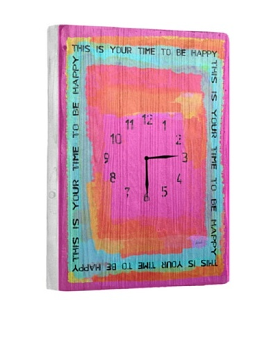 This Is Your Time Reclaimed Wood Clock