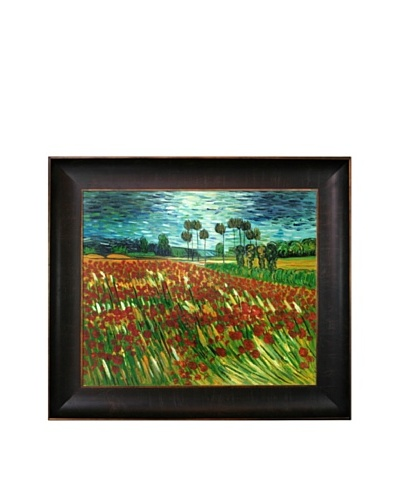 Vincent Van Gogh Field of Poppies Framed Oil Painting
