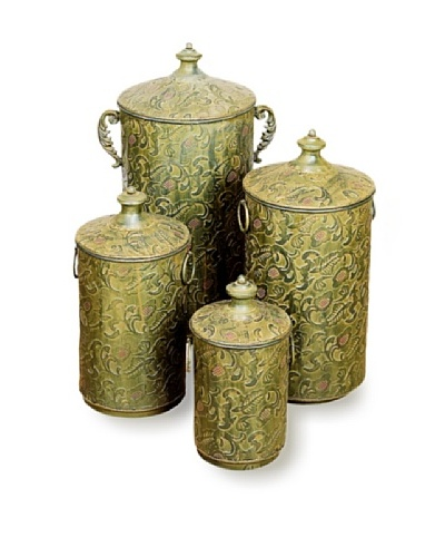 Set of 4 Metal Canisters