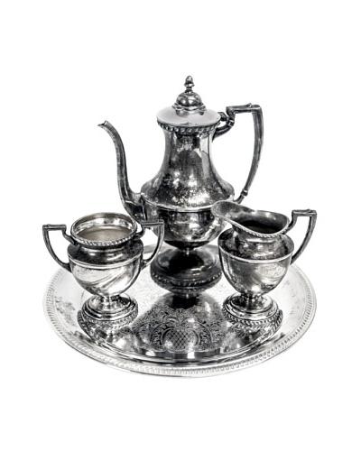 Vintage Silver 4-Piece Coffee Service, c.1940s