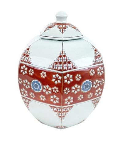 Achoura Jar, Light Blue/Red