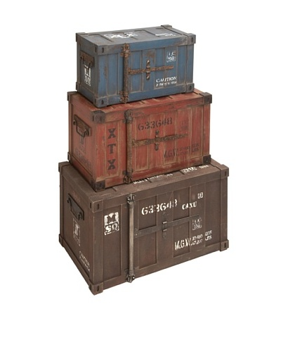 Set of 3 Stackable Trunks