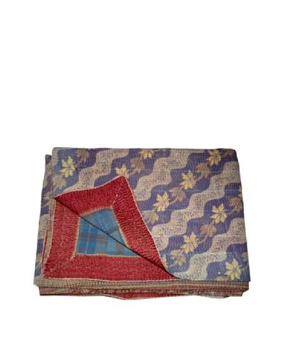 "Vintage Karishma Kantha Throw, Multi, 60"" x 90"""