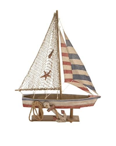 Wooden Rope Sailboat