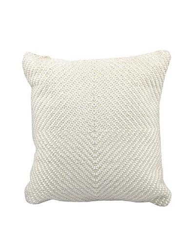 Joseph Abboud Woven Luster Pillow, Ivory, 16 x 16