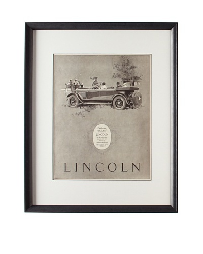 Original French Lincoln Advertisement, 1925