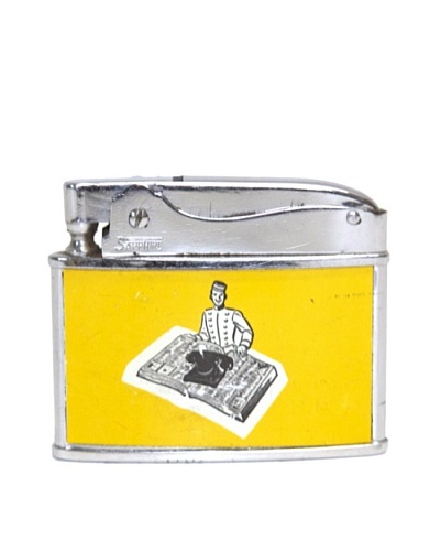 Vintage Circa 1950's Yellow Book Advertisement Lighter