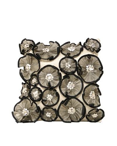 Ruffled Flowers Pillow