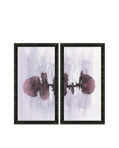 Watercolor Blot Diptych Framed Giclée Print